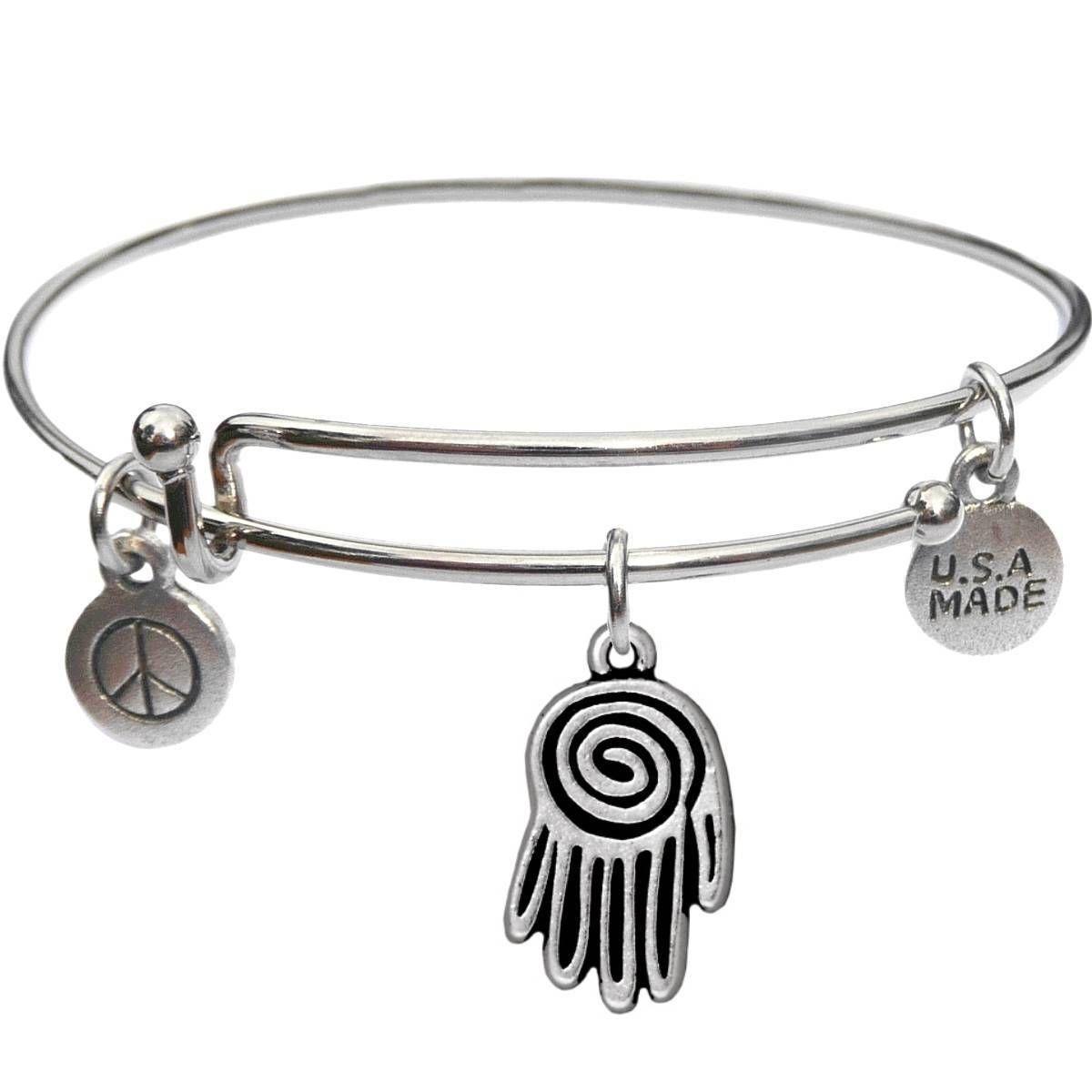 Bangle Bracelet and Spiral Hand - USA Made - BBandJT165