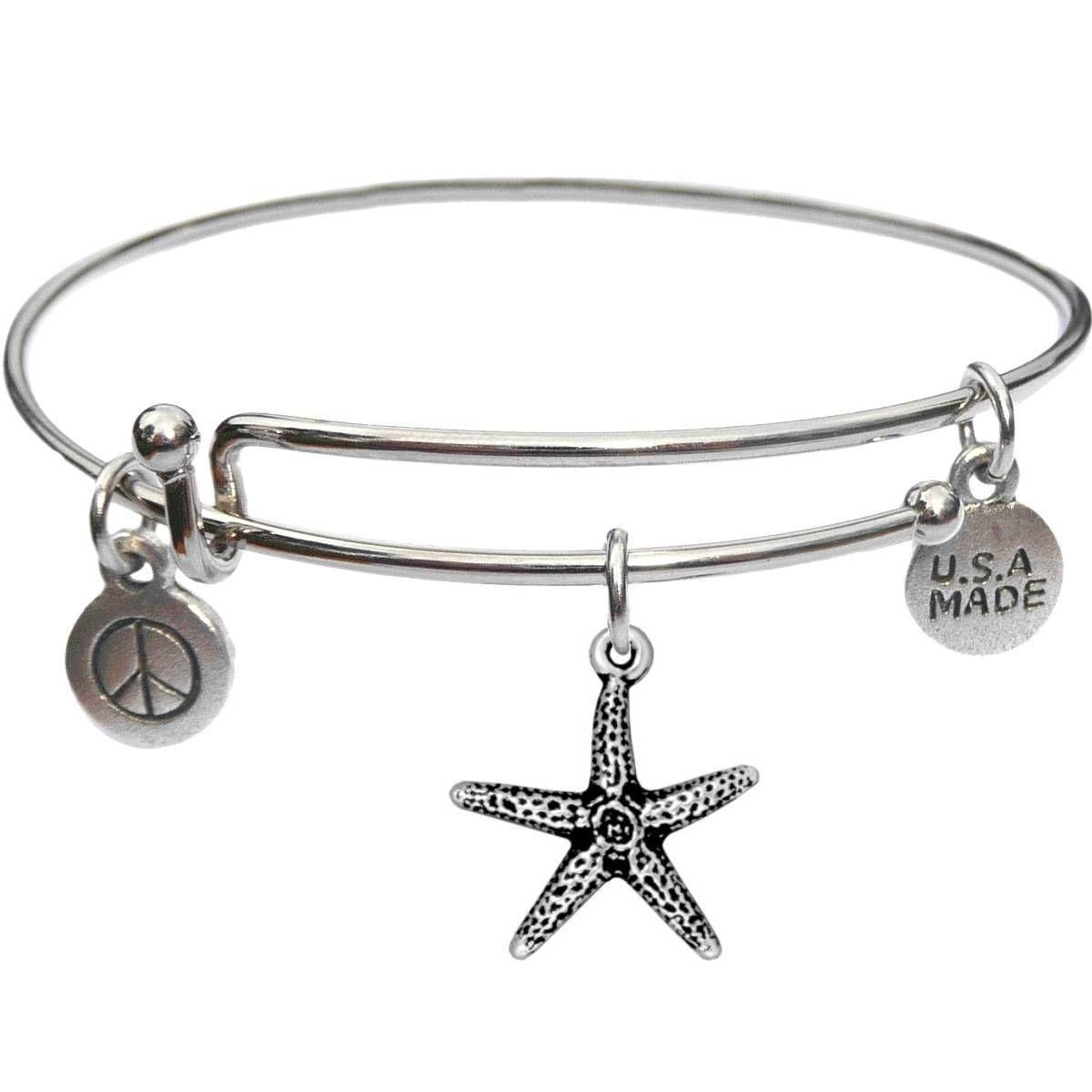 Bangle Bracelet and Seastar - USA Made - BBandJT169