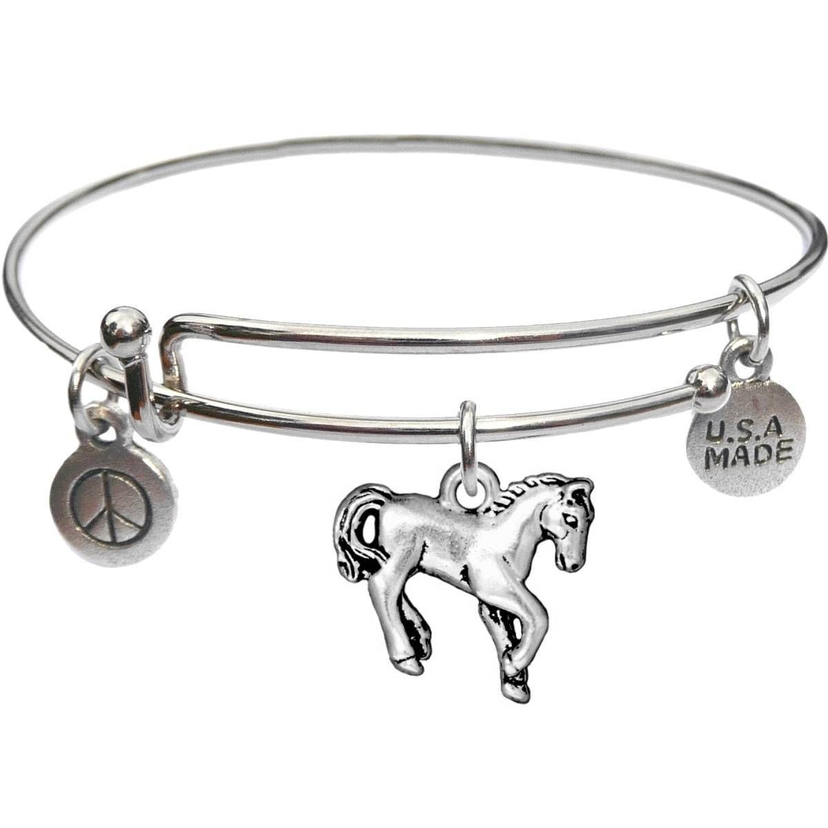 Bangle Bracelet and Horse - USA Made - BBandJT151