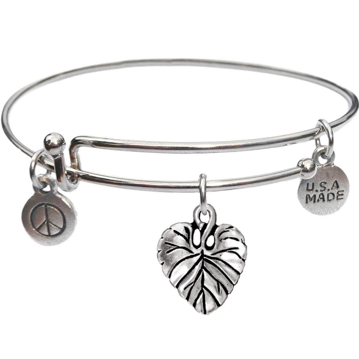 Bangle Bracelet and Leaf - USA Made - BBandJT171
