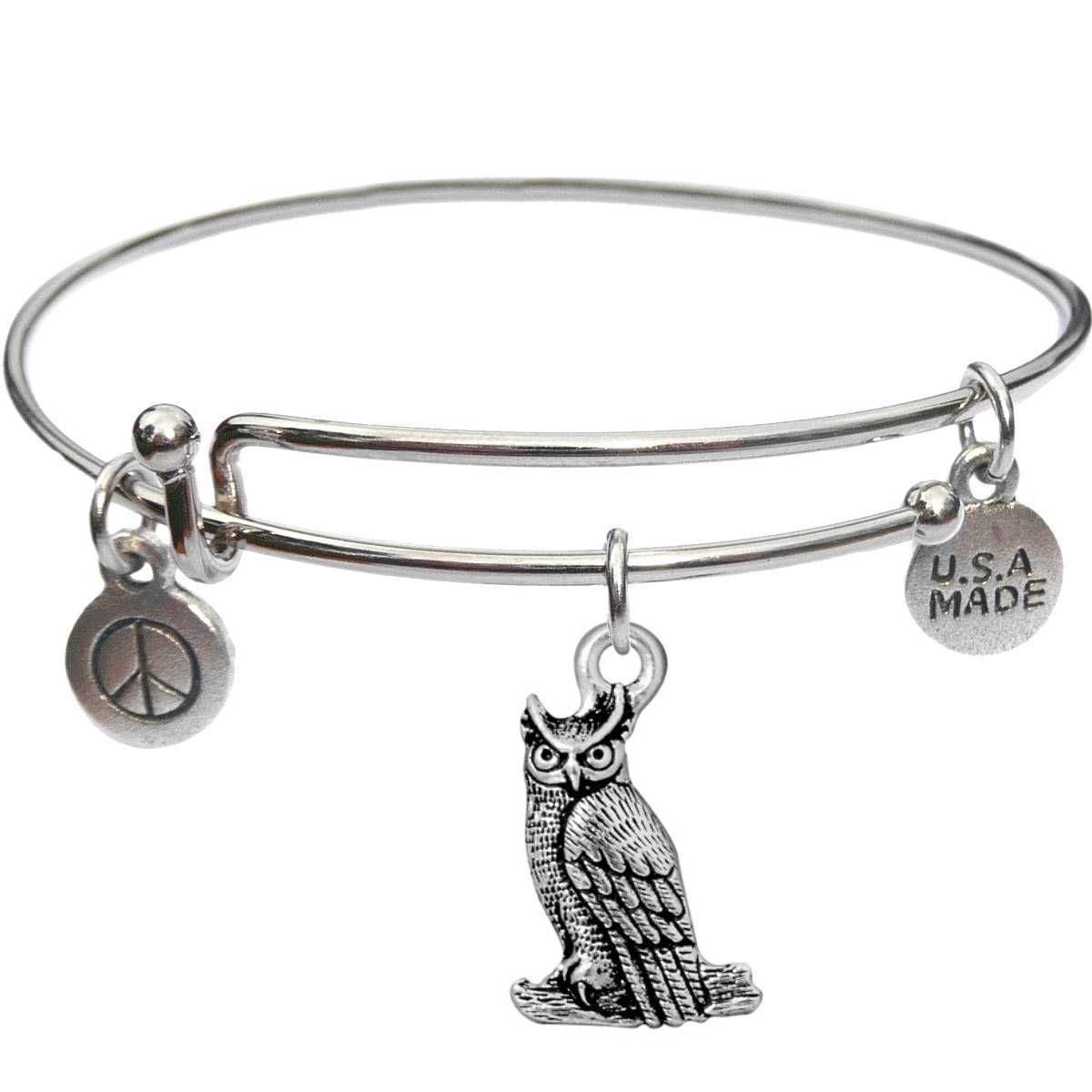 Bangle Bracelet and Owl - USA Made - BBandJT183