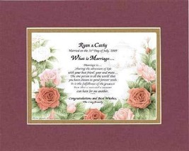 Personalized Touching and Heartfelt Poem for Wedding - What Is Marriage ... - $22.72