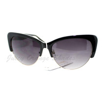 Womens Fashion Sunglasses Retro Plastic Top Oval Cateye Frame - $7.95