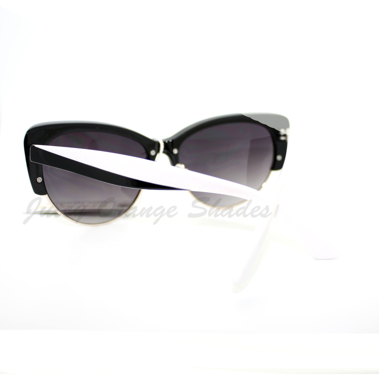 Womens Fashion Sunglasses Retro Plastic Top Oval Cateye Frame