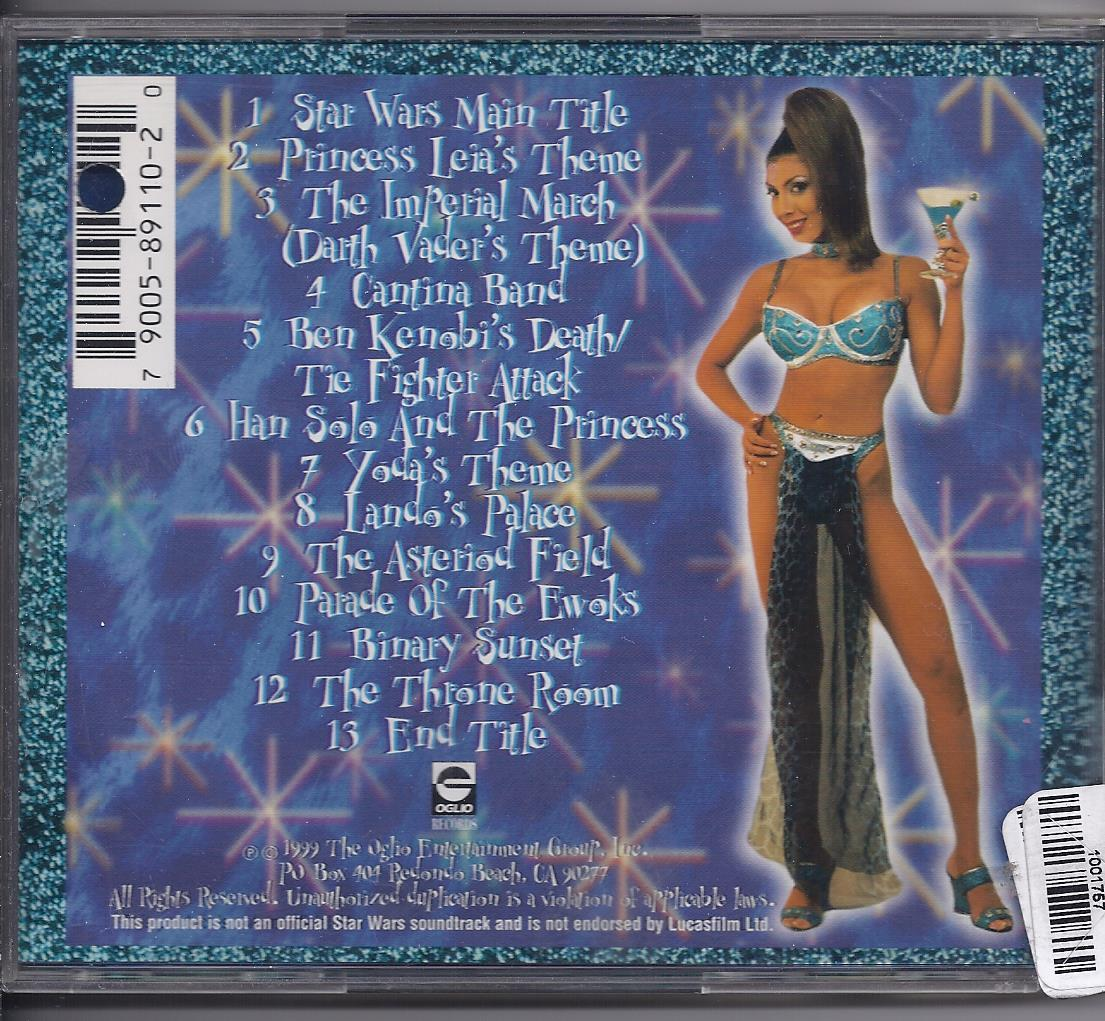 COCKTAILS in the CANTINA 1999 Star Wars Theme CD, Used