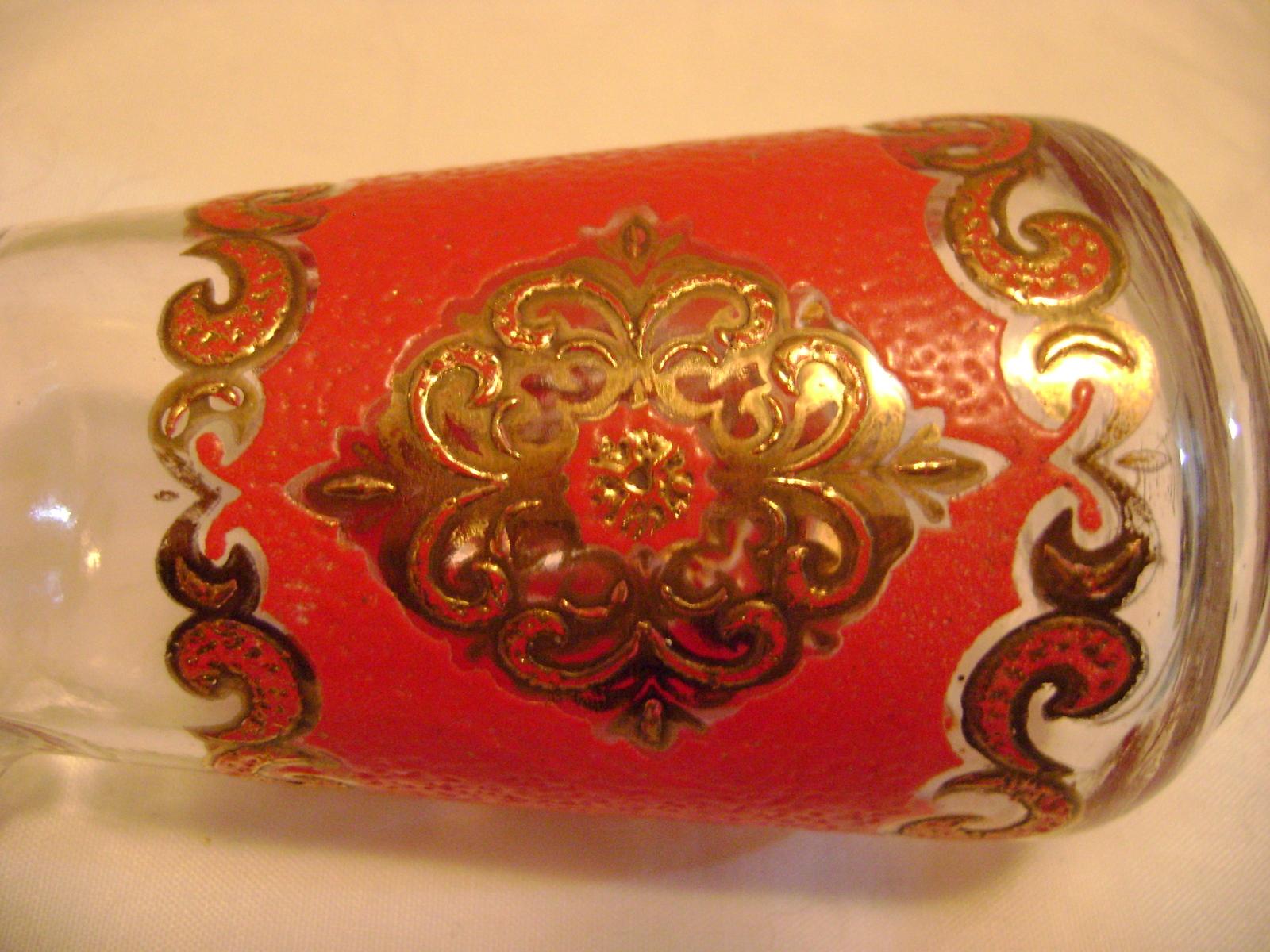 Anchor Hocking Gold & Leather Embellished Cruet