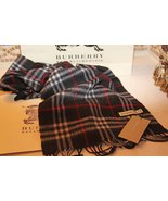Burberry London Nova Check Plaid 100% Cashmere Scarf - €220,41 EUR