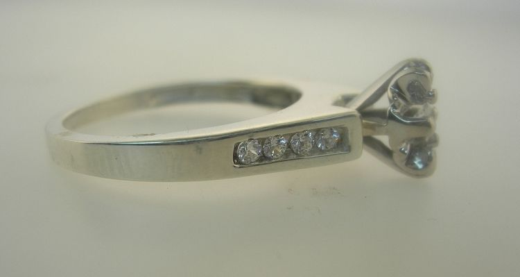 1/4 Carat Genuine Diamond Engagement Ring In Sterling Silver Sizes 3-10