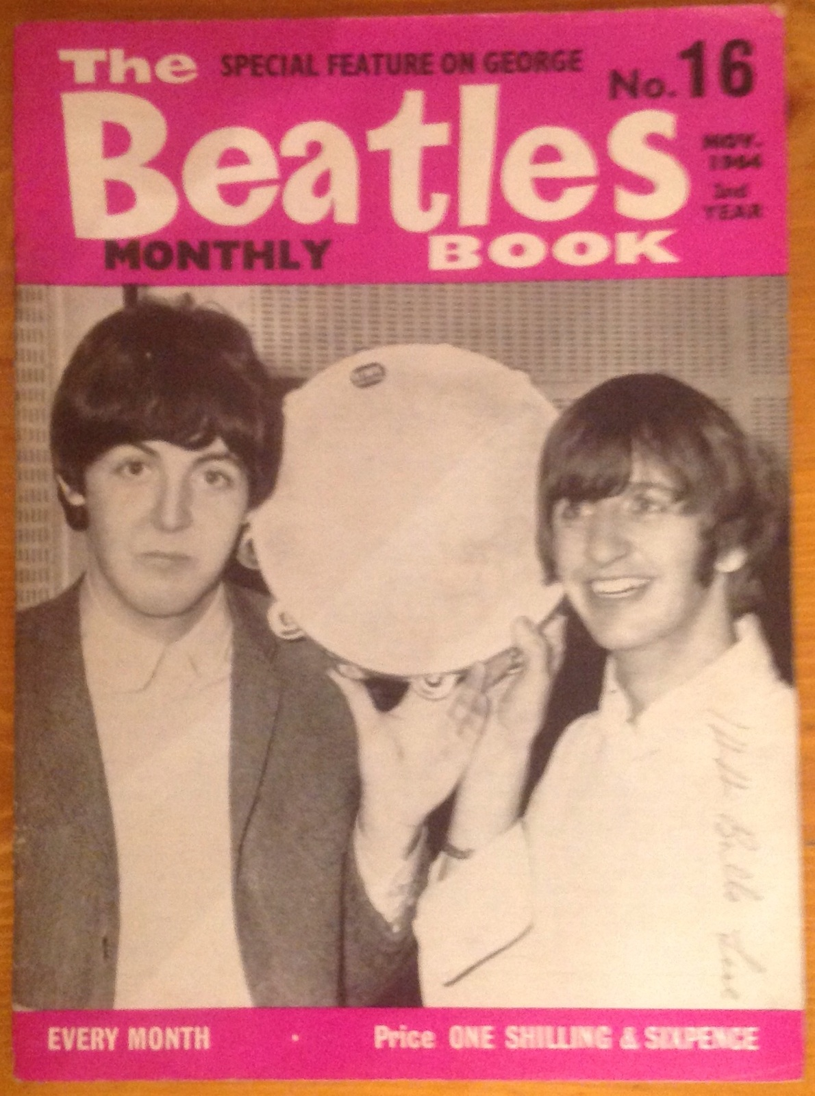 The Beatles Monthly Magazine Book No 16 Nov 1964 Original