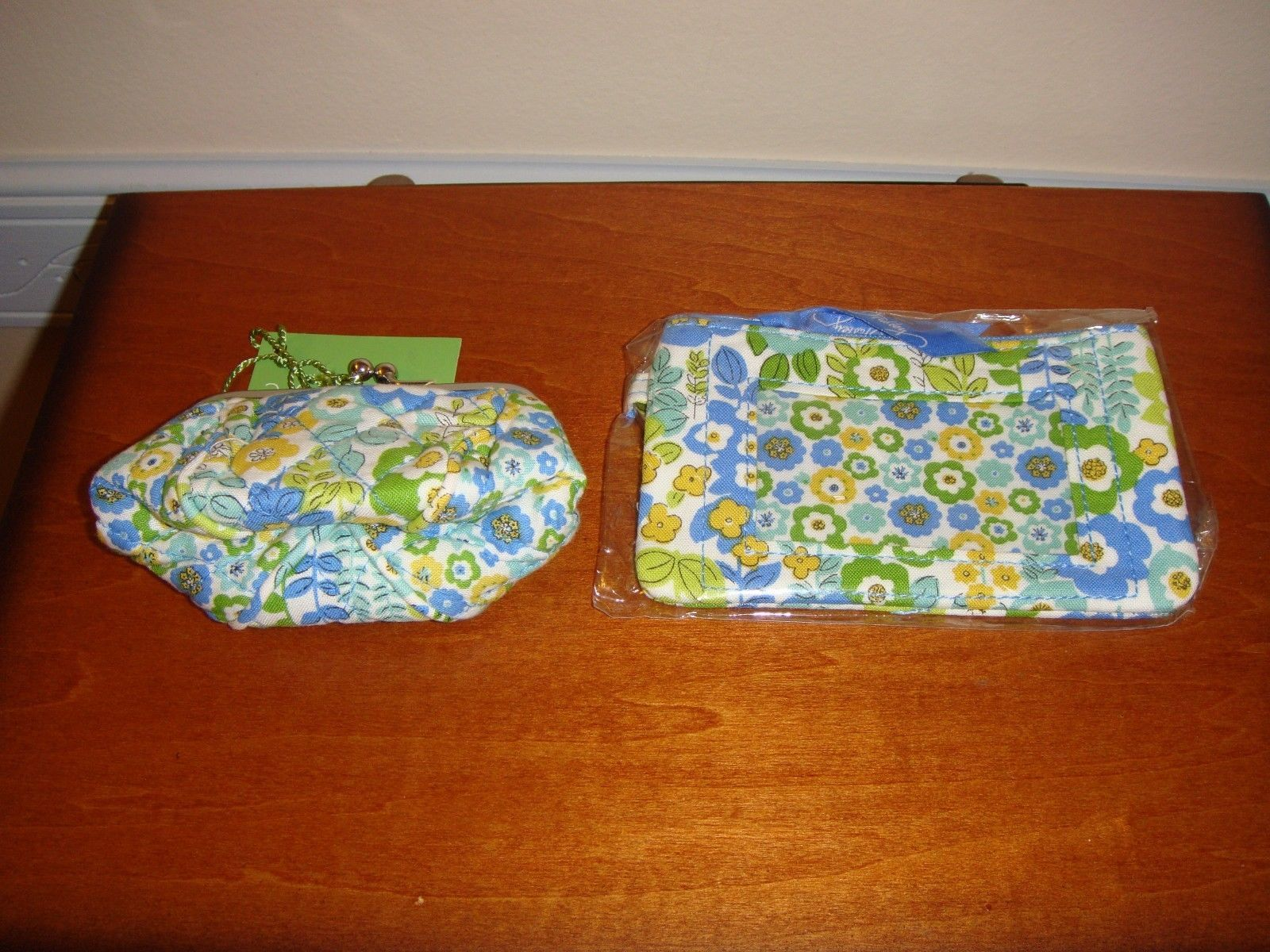 Vera Bradley English Meadow Petite Pouch And Zip ID Case