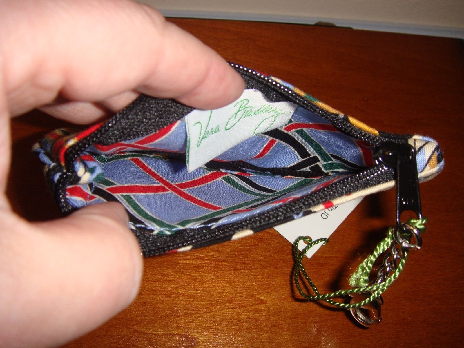 Vera Bradley Versailles Clip Zip ID Case