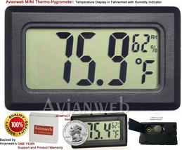 Avianweb MINI Thermo-Hygrometer: Digital Temperature Display in Fahrenhe... - $8.90
