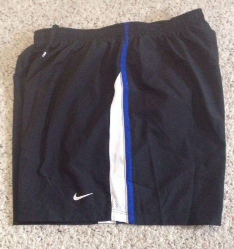 Womens Nike Running Shorts - Black - Lined - sz L - Fast Ship!