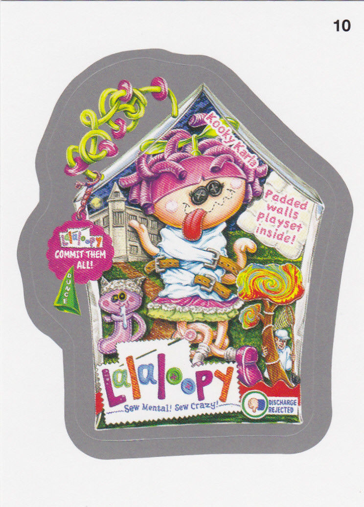 2014 WACKY PACKAGES SERIES1 SILVER CARD **LALALOOPY** #10 NEW SERIES!!