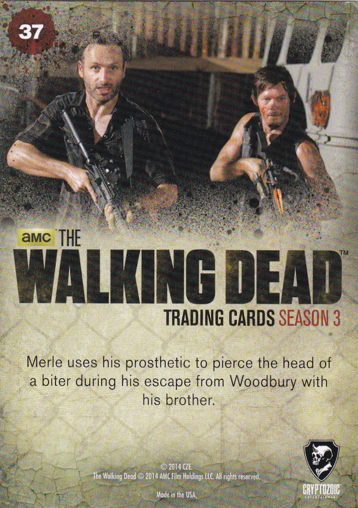 THE WALKING DEAD - SEASON THREE - Part 2 - **ALWAYS ARMED** #37 ONLY 99 CENTS!!