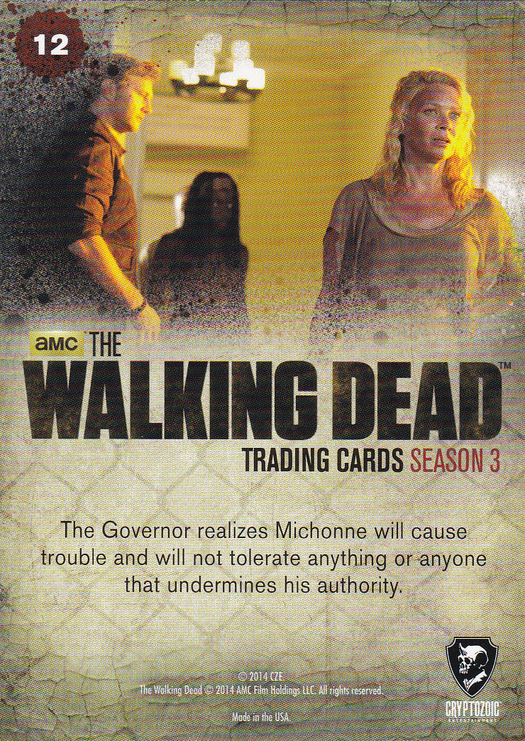 THE WALKING DEAD - SEASON THREE - Part 2 - *POTENTIAL PROBLEM* #12 ONLY 99 CENTS