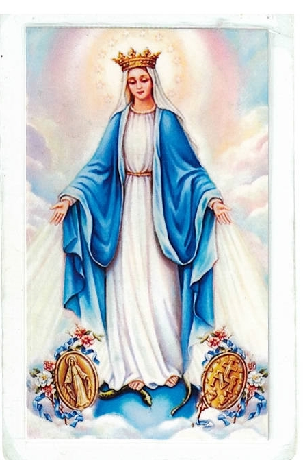 Laminated prayer card   virgen milagrosa 300.0060 001