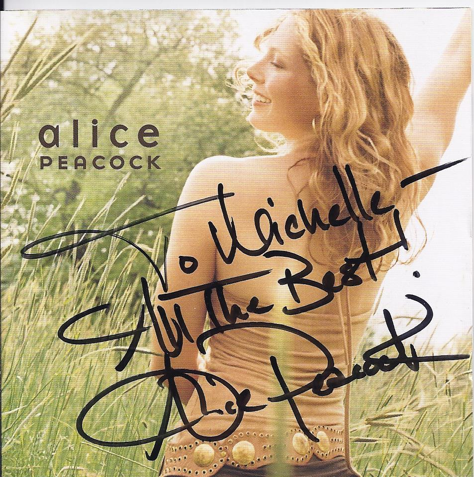 ALICE PEACOCK  Autographed CD