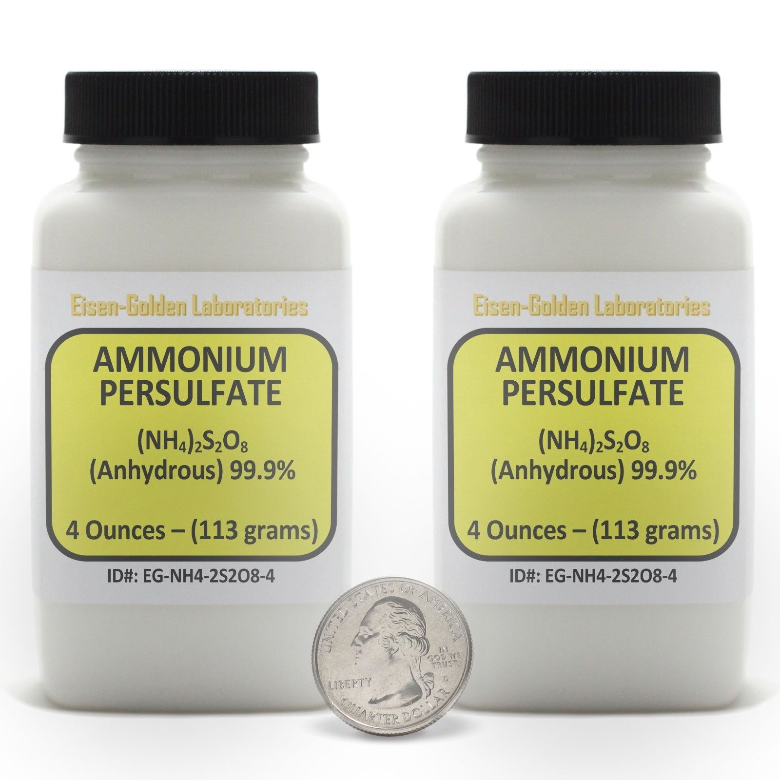 Ammonium Persulfate [(NH4)2S2O8] 99.9% ACS Grade Powder 8 Oz in Two Bottles USA