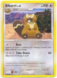 Bibarel 20/130 Rare Diamond & Pearl Pokemon Card