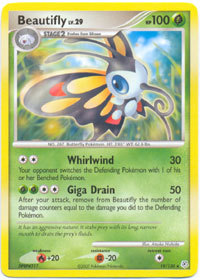 Beautifly 19/130 Rare Diamond & Pearl Pokemon Card