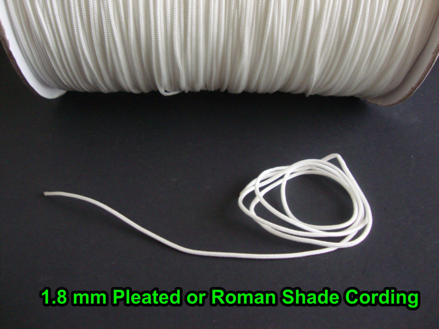 All-in-One ROMAN SHADE HARDWARE kit, in White (cord lock, pulleys, cord, bracket