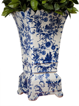 Blue & White Porcelain Planter Vase,21'' tall. - ₹28,690.37 INR
