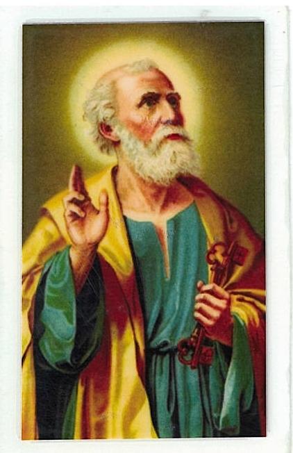 Laminated prayer card   san pedro 300.0063 001