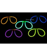 Set of 5 ASSORTED Glow Stick Glasses - $6.50