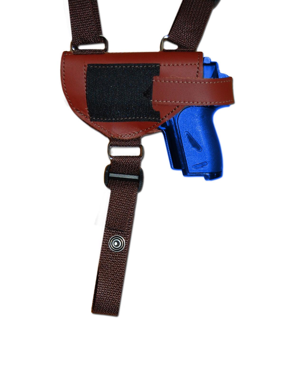 NEW Burgundy Leather Shoulder Holster w/Dbl Mag Pouch Makarov FEG Mini-Pocket 22