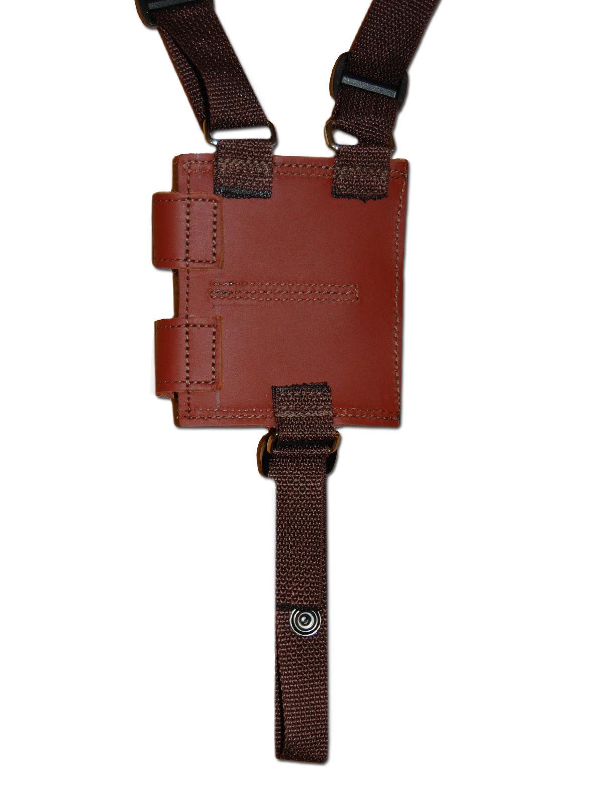NEW Burgundy Leather Shoulder Holster w/Dbl Mag Pouch Cobra, Daewoo Mini-Pocket