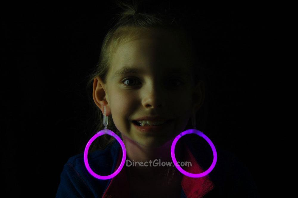 Glow pink hoop earrings2