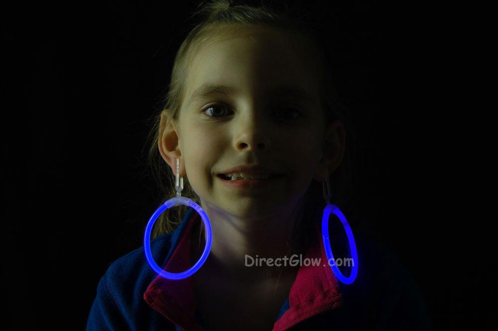 Glow blue hoop earrings2