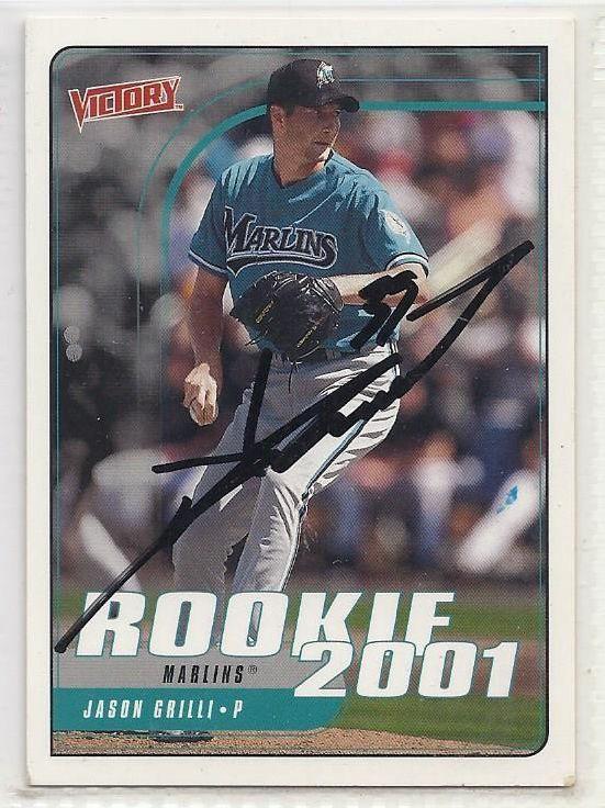 Jason Grilli Signed Autographed Card 2001 Upper Deck Victory