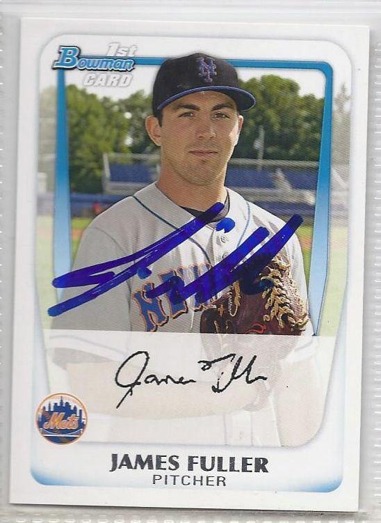 James Fuller Signed Autogrpahed Card 2011 Bowman Prospects