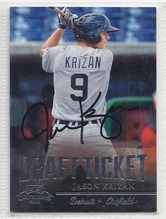 Jason Krizan Signed Autographed card 2011 Playoff Contenders Draft Ticket