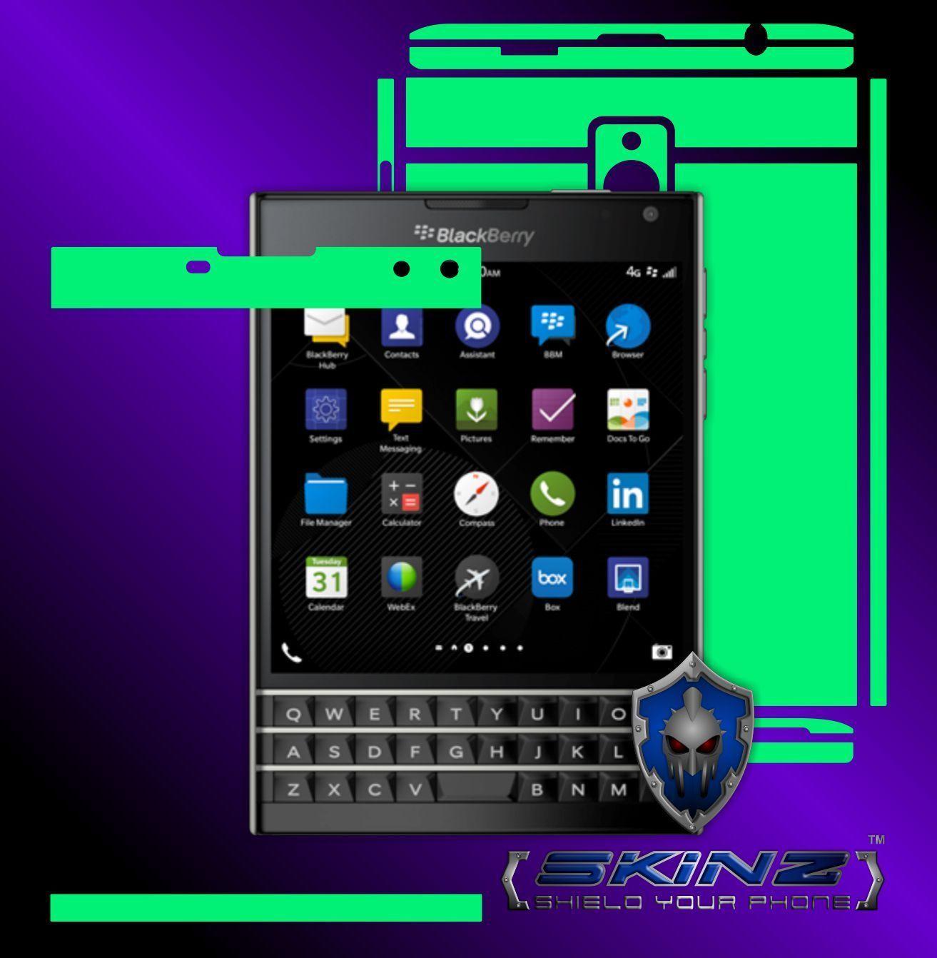 BlackBerry Passport Glow Skin,Ganzkörper Sticker Schutzfolie,LEUCHTET IM DUNKELN
