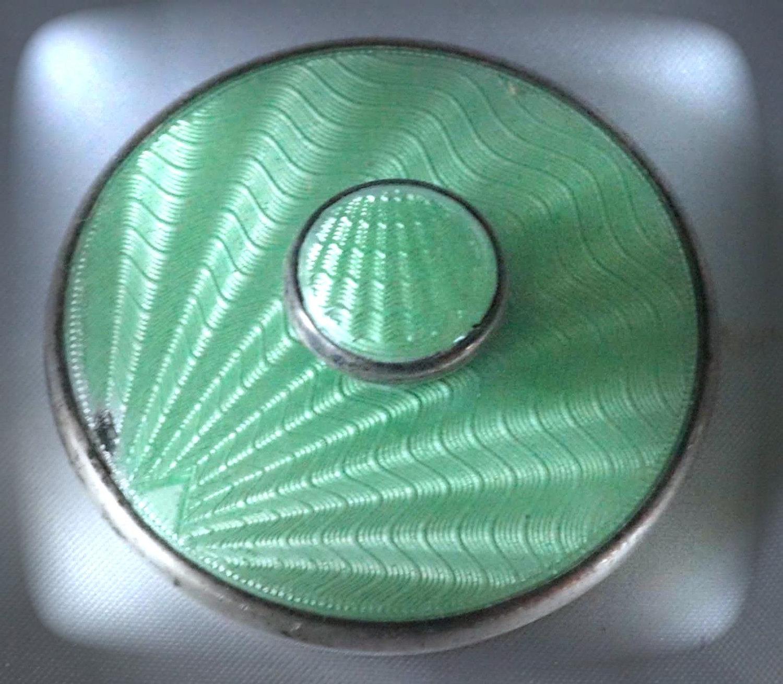 Art Deco Guilloche Enamel 5-piece Sterling Silver Manicure Se