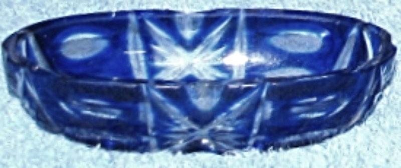 Val Saint Lambert Top Quality Cobalt Crystal - 19th Century Vanity Dres