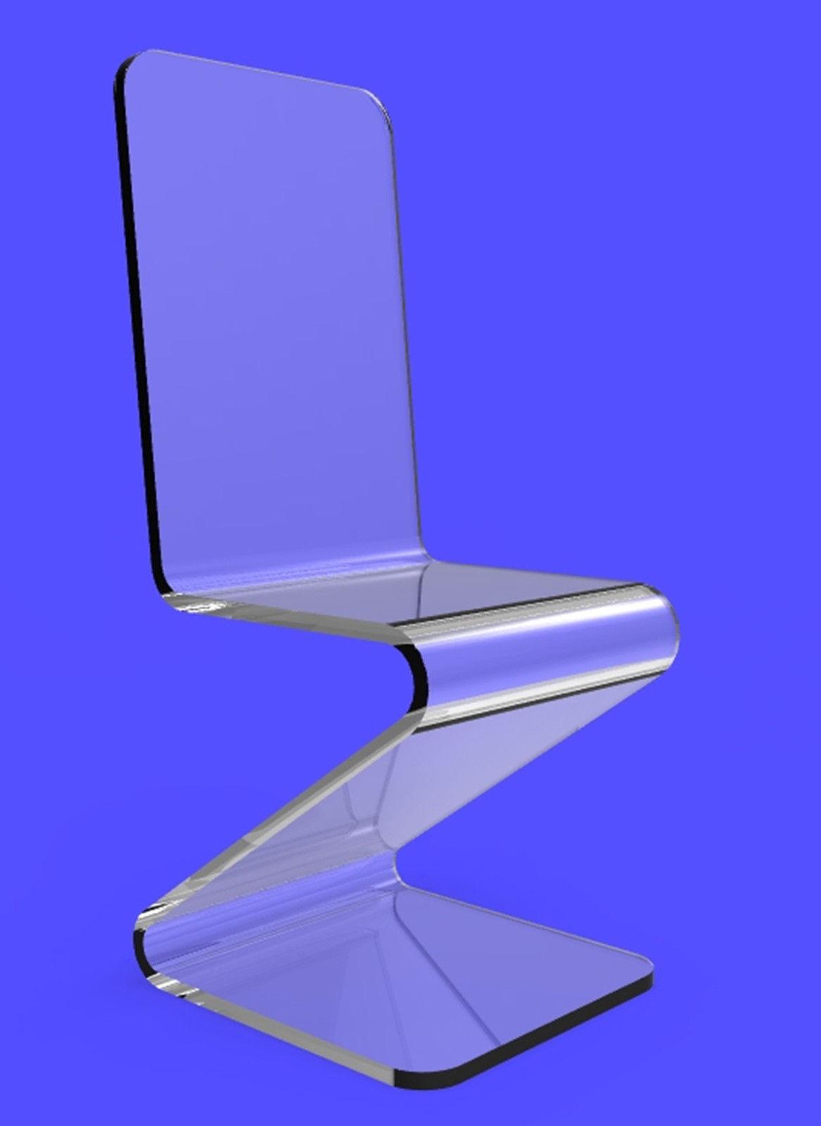 acrylic clear chair lucite plexiglass perspex z chair chairs
