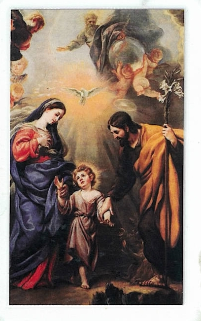 Laminated prayer card   sagrada familia 300.0076 001