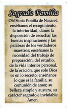 Laminated Prayer Card - Sagrada Familia - L300.0076 image 2