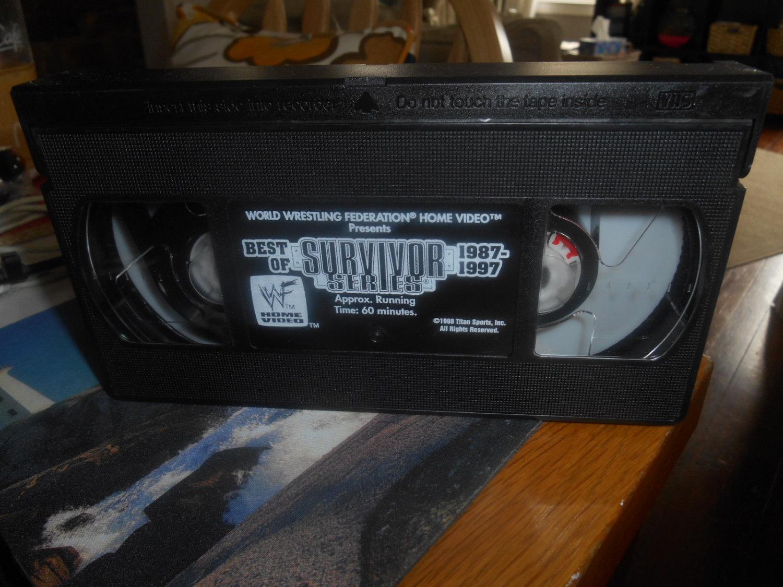 wwf best of 1987-97 survivor series vhs tape