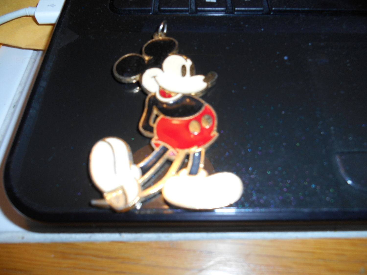 vintage 70's mickey mouse charm 2'' tall by walt disney productions