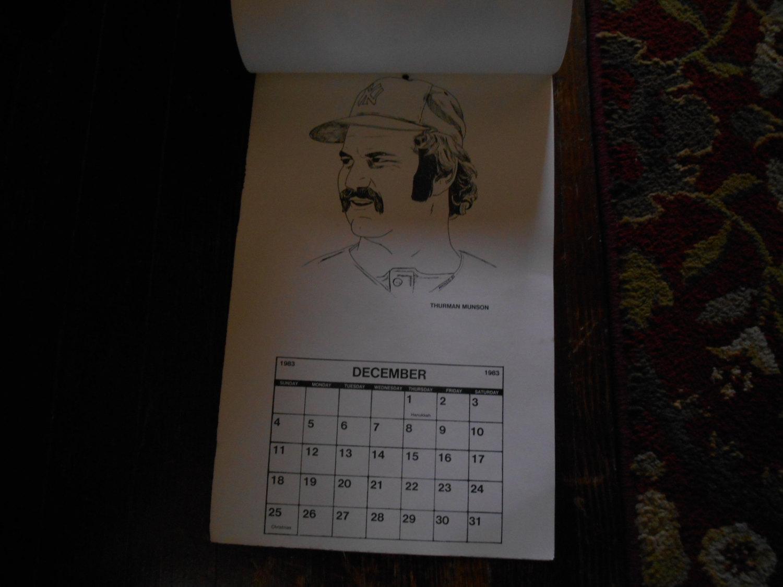 vgt 80's baseball players calendar by mondo