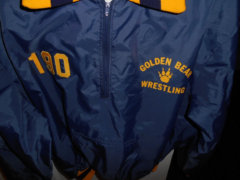vgt school wrestling jacket lined size xl 70's