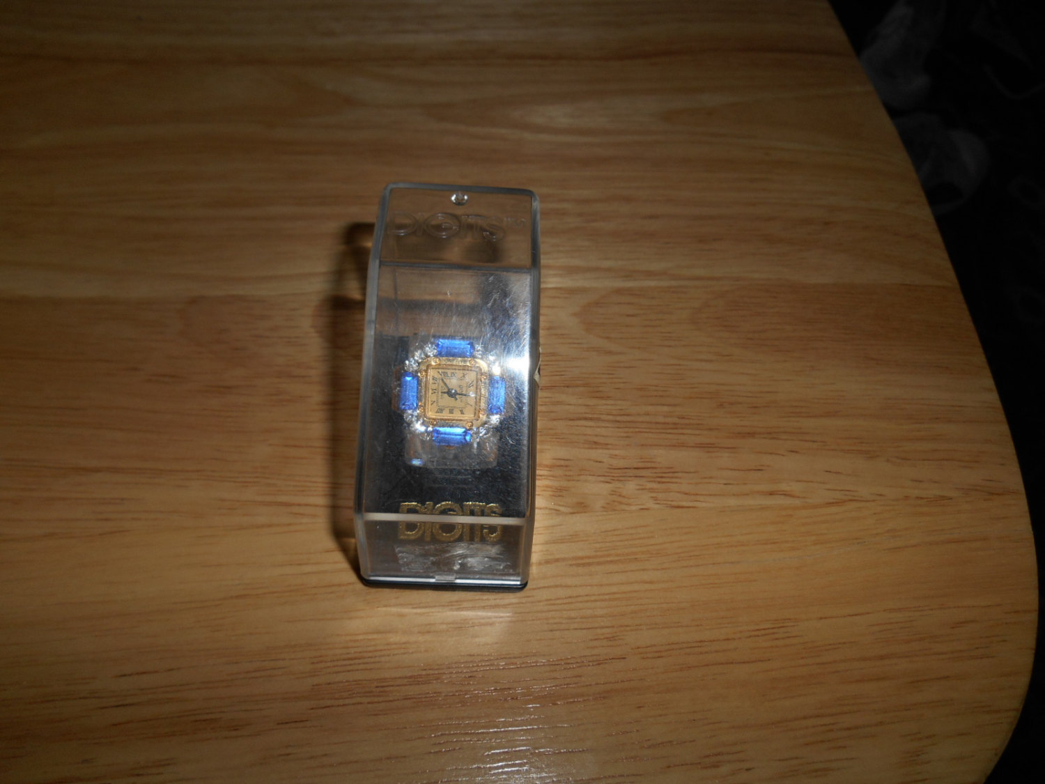 vgt bonetto digits watch ring adorned with rhinestone new