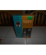 vgt quarterback club football pins & collection display new 24kt gold pl... - $25.00