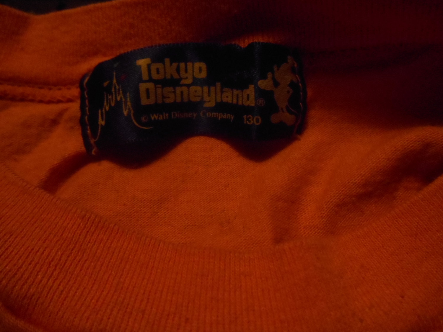 vgt kids tokyo disneyland mickey mouse t-shirt size small