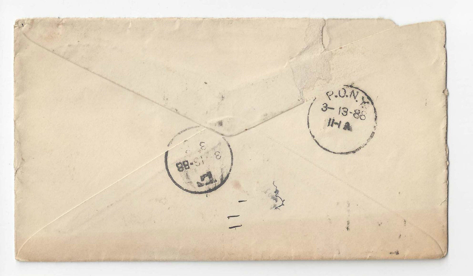 1888 Allentown PA Commercial Hotel Cover New York P.O.N.Y. Receiving on Reverse